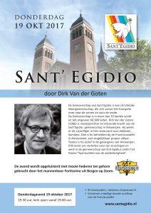 Flyer Sant' Egidio- avond 19 oktober Halsteren
