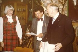 Wim Steenbak met Henk Badings